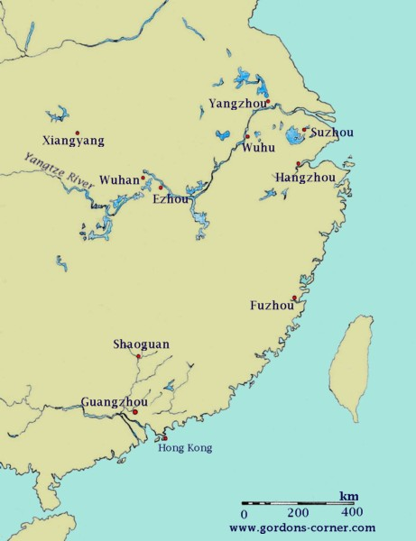 Map-Southern Song Dynasty