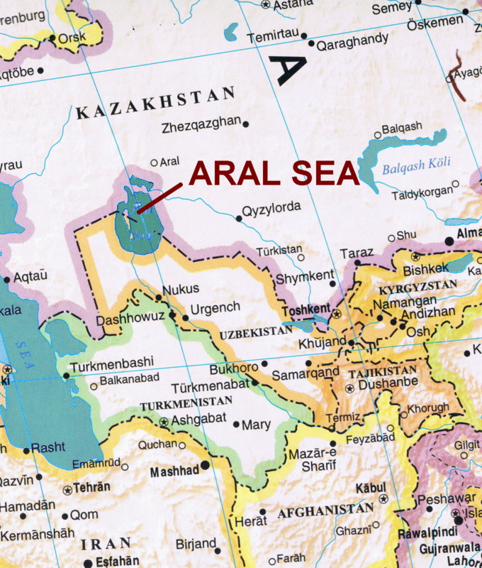 Old Aral Sea Map